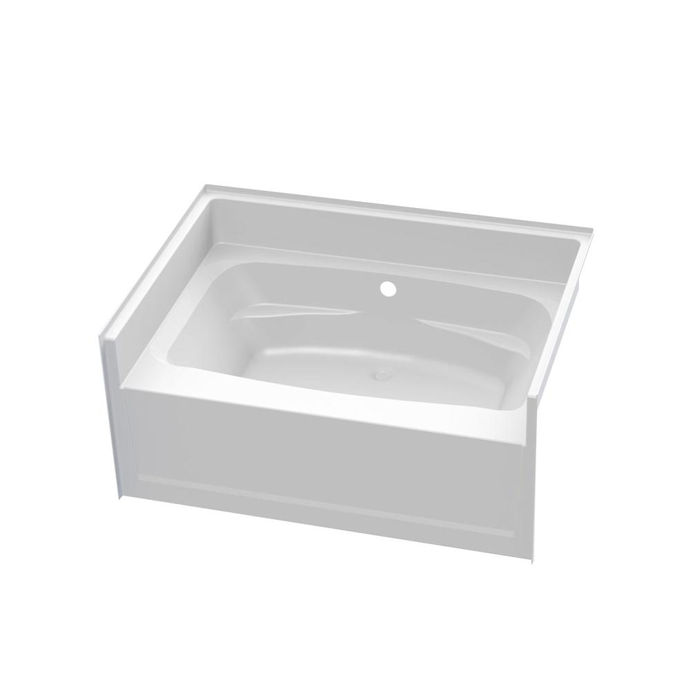 Aquatic Three Wall Alcove Whirlpool Bathtubs item 6042HCWWP-AL