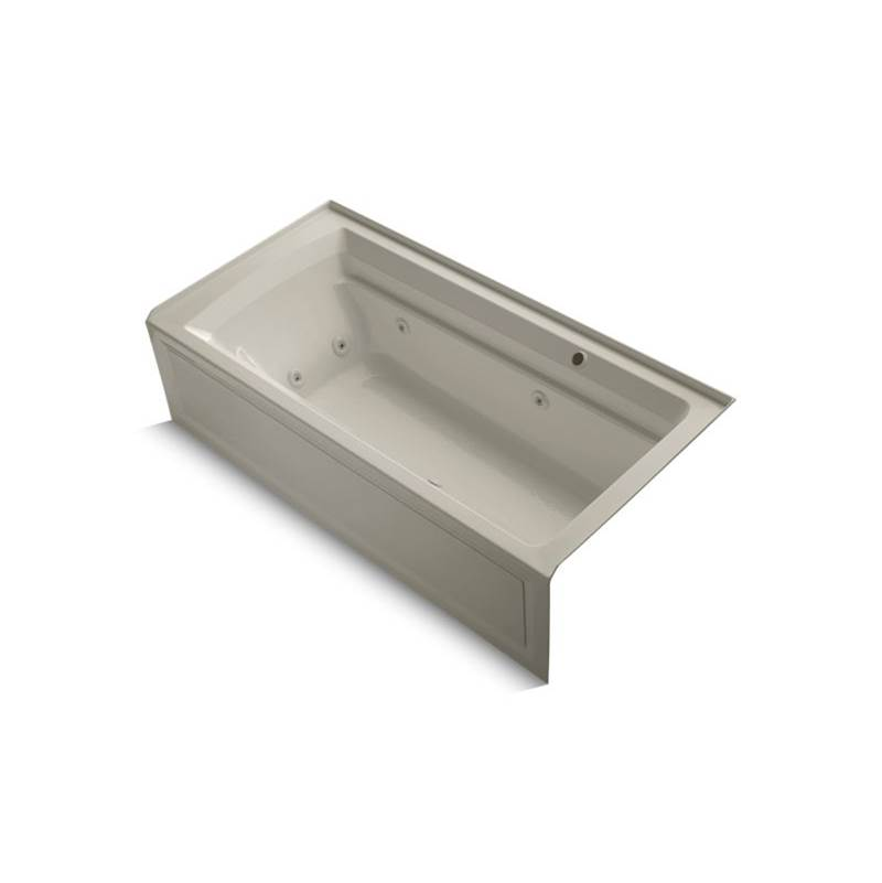 Kohler Three Wall Alcove Whirlpool Bathtubs item 1124-RAW-G9