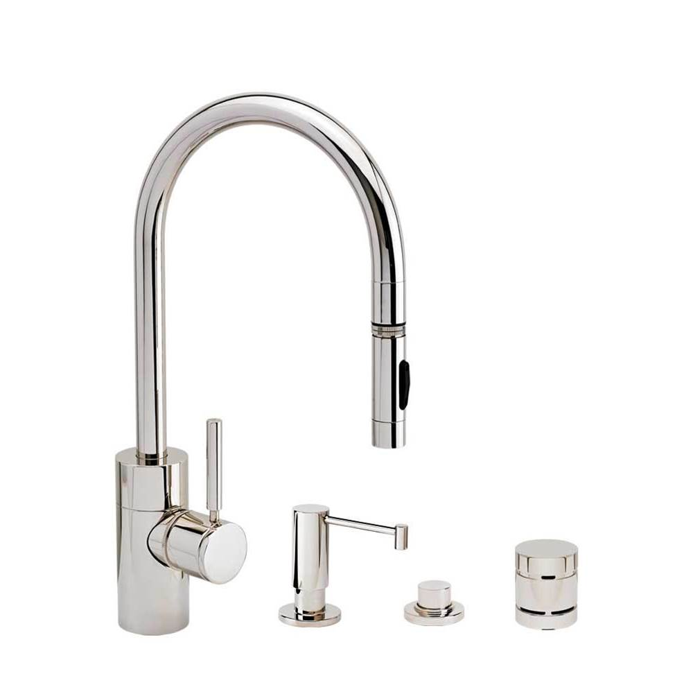Waterstone Deck Mount Kitchen Faucets item 5400-4-SG